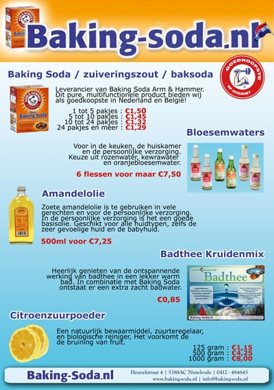 Uitbreiding assortiment Baking Soda NL
