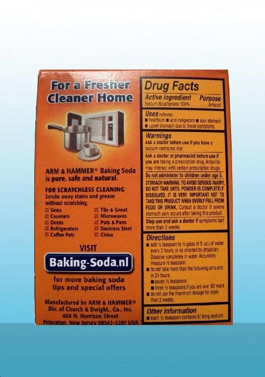 baking soda achterkant