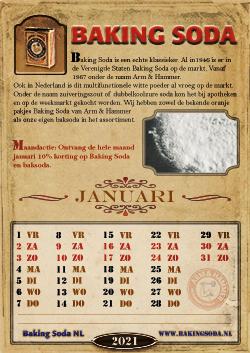 Jaarkalender 2021 – Baking Soda NL
